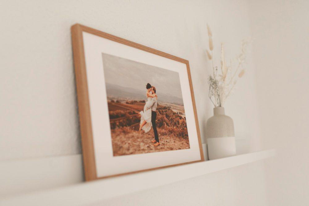 Wandbild Hochzeitsfotografie Familienfoto Passpartout Holzrahmen nPhoto