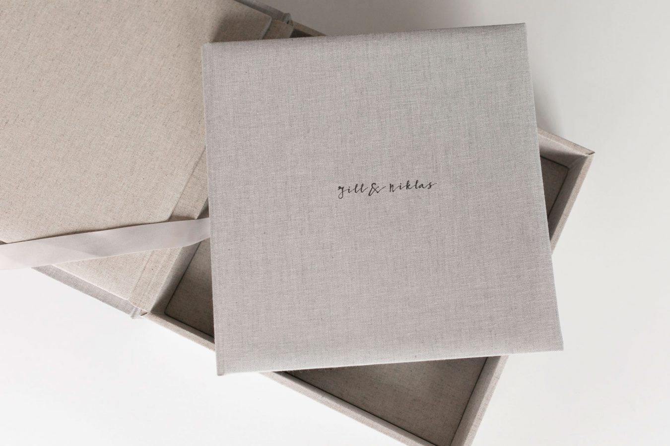Hochwertiges langlebiges Fotoalbum Leinen nPhoto Familienfotografie Hochzeitsfotografie Albumbox